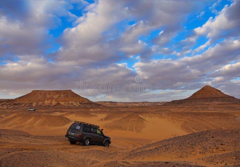Weiße Wüste - Ägypten stockfotos