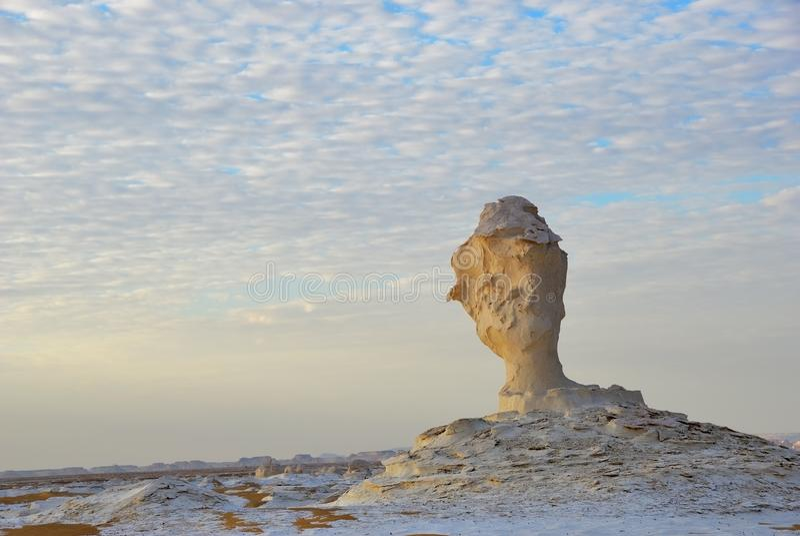 Weiße Wüste Sahara Egypt stockfoto