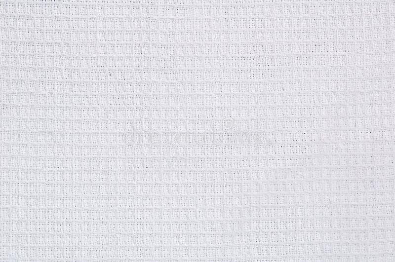 Weiße Waffeltuchbeschaffenheit lizenzfreie stockbilder