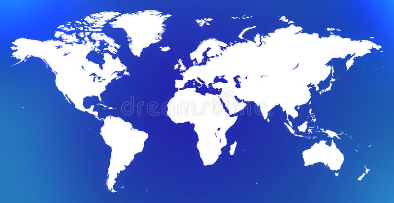 Weiße Weltkarte stockfoto
