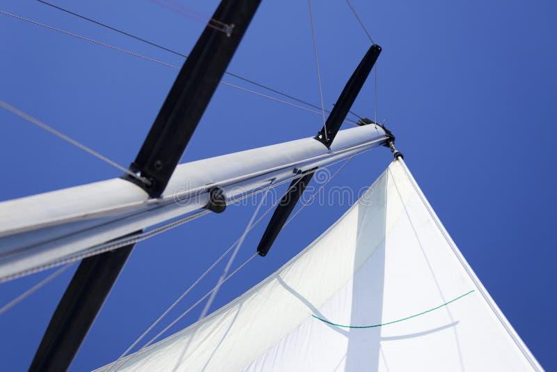 Weiße yachting Segel/ lizenzfreies stockfoto