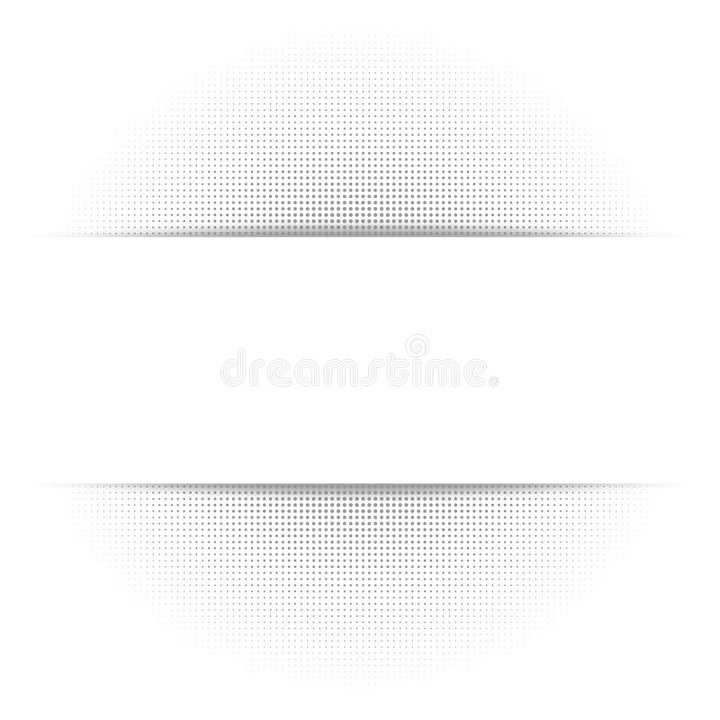 Weißer abstrakter Hintergrund, graue geometrische Halbtonbeschaffenheit, Papierschatten stock abbildung