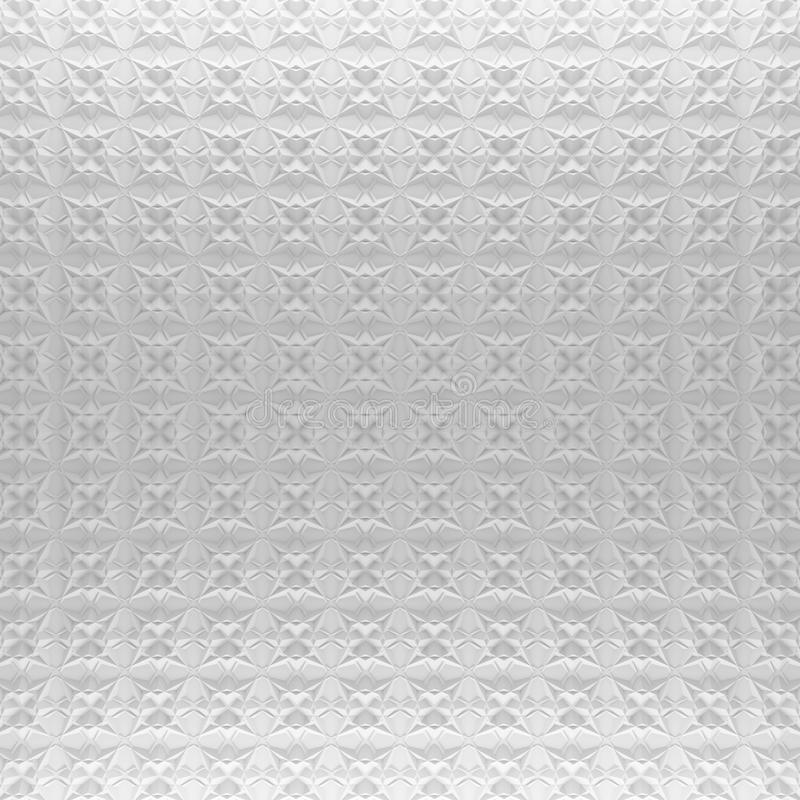 Weißer abstrakter Musterhintergrund 3d, das geometrische Polygone überträgt lizenzfreie abbildung