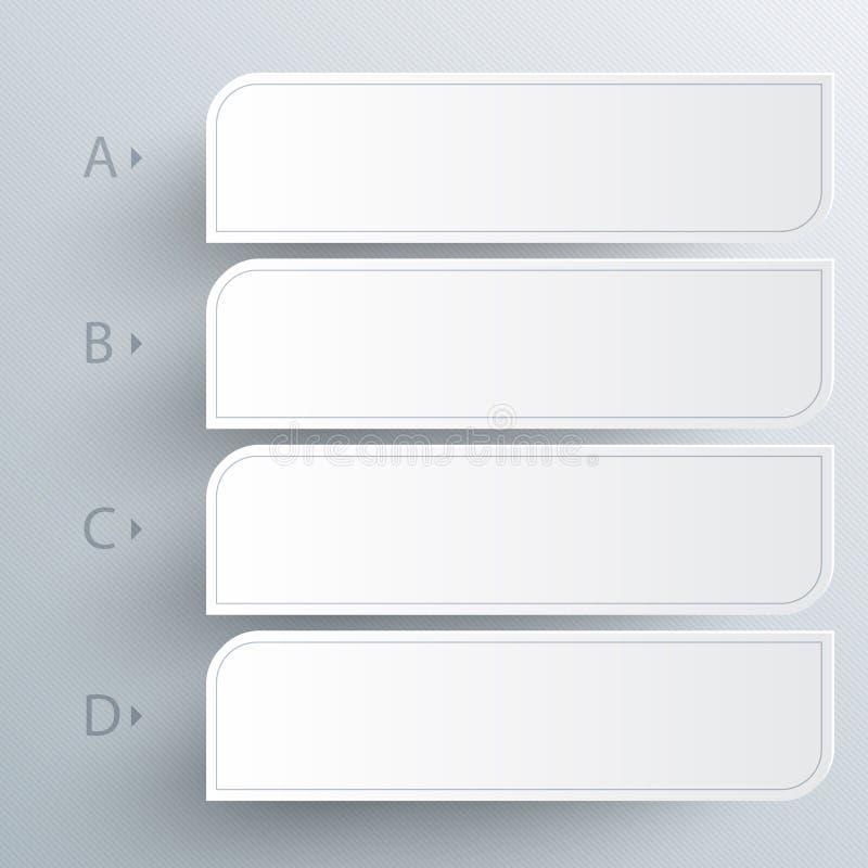 Weißer abstrakter Papierhintergrund 3D vektor abbildung