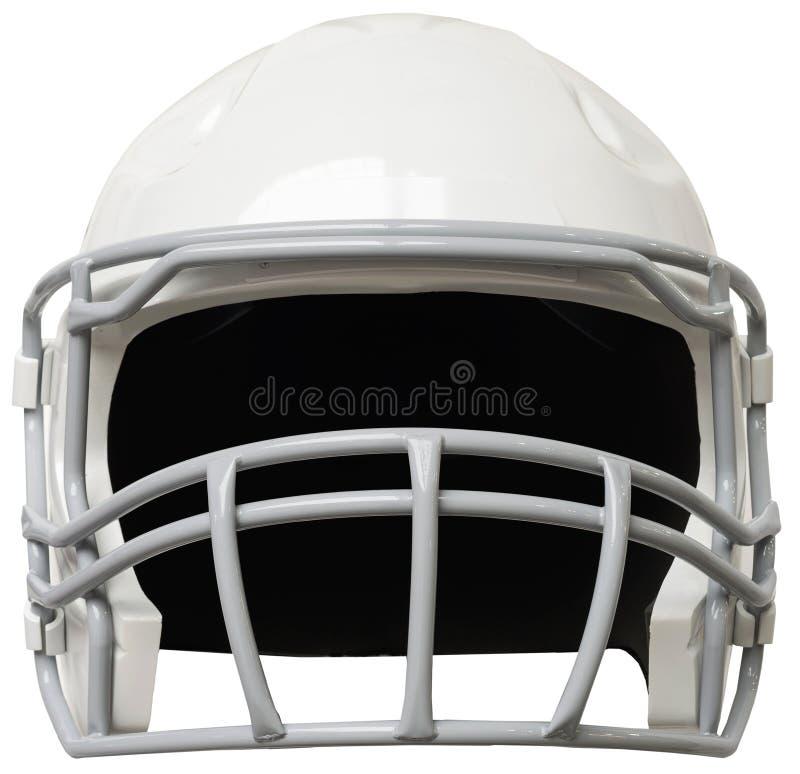 Weißer amerikanischer Football-Helm lizenzfreie stockfotos