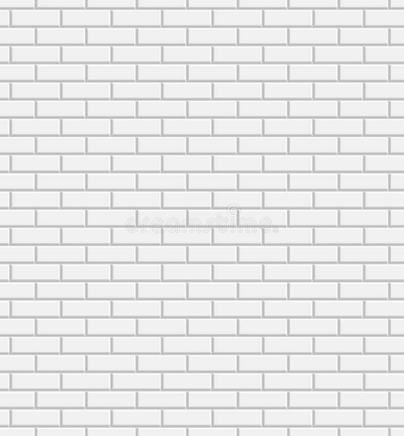 Weißer Backsteinmauerhintergrund des Vektors stock abbildung