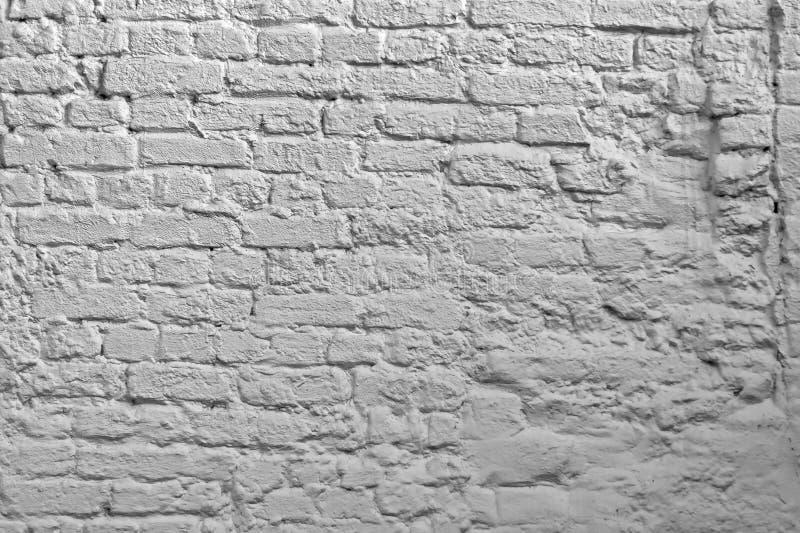 Weißer Backsteinmauerhintergrund Tünche-Ziegelstein-Beschaffenheit Weiße Maurerarbeit Art Wallpaper Alter Kalk gewaschene Wand-St lizenzfreies stockfoto