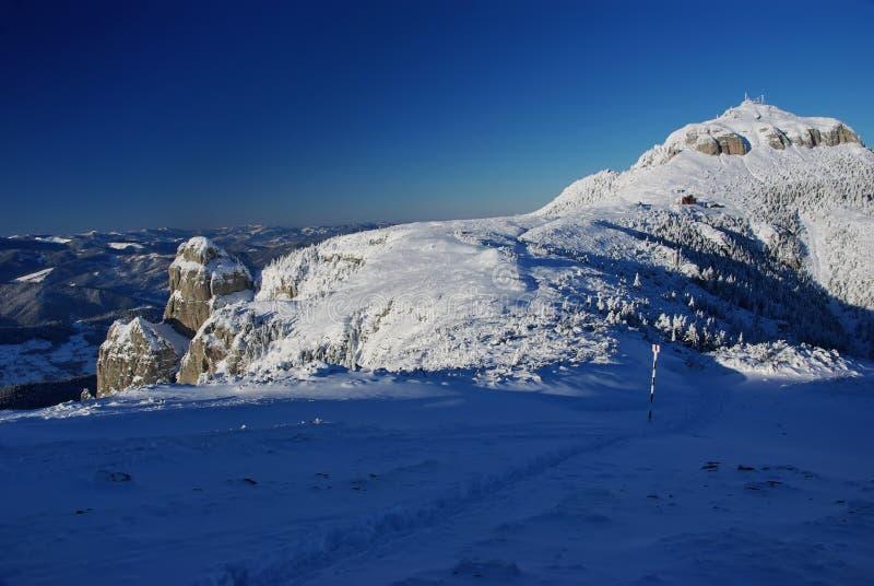 Weißer Berg stockfotografie