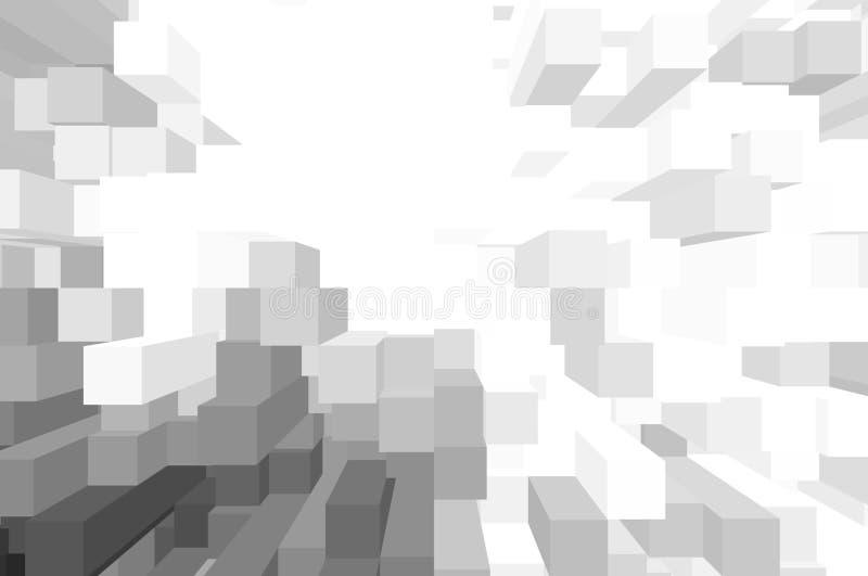 Weißer Blockhintergrund lizenzfreie stockfotografie