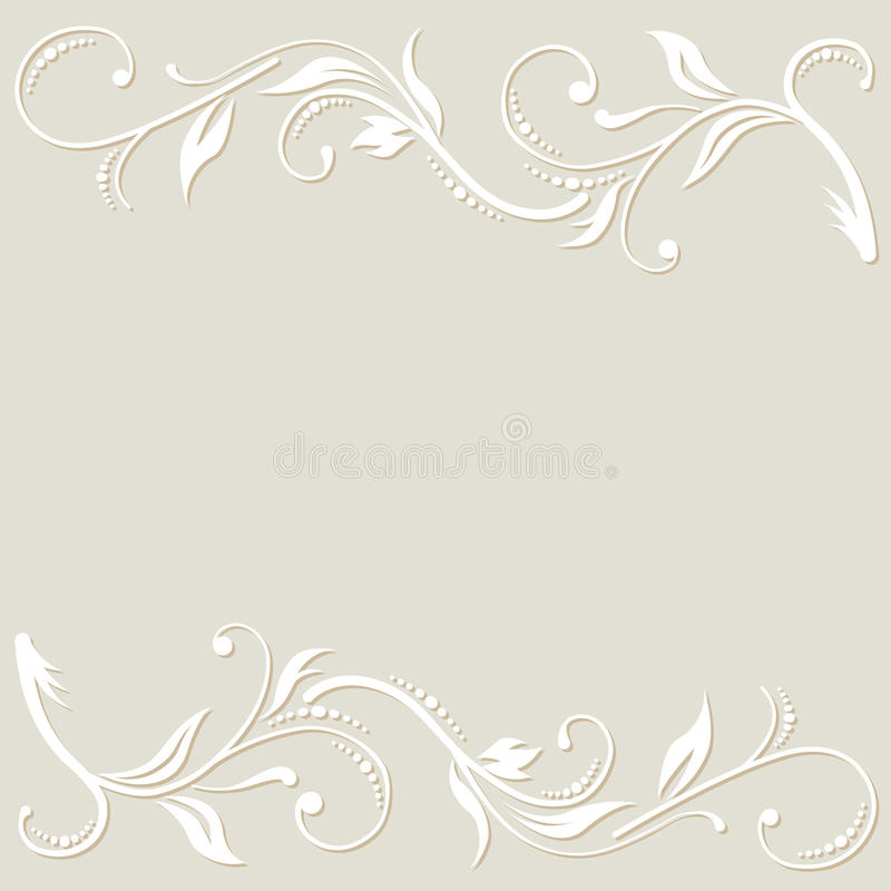 Weißer Blumenhintergrund vektor abbildung