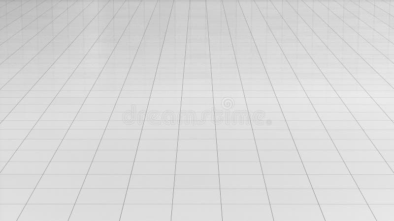Weißer Bodenbelag weißer bodenbelag wiedergabe 3d fliese beschaffenheitshintergrund