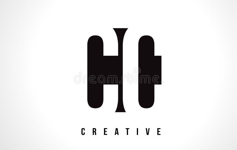 Weißer Buchstabe Logo Design cm C C mit schwarzem Quadrat vektor abbildung