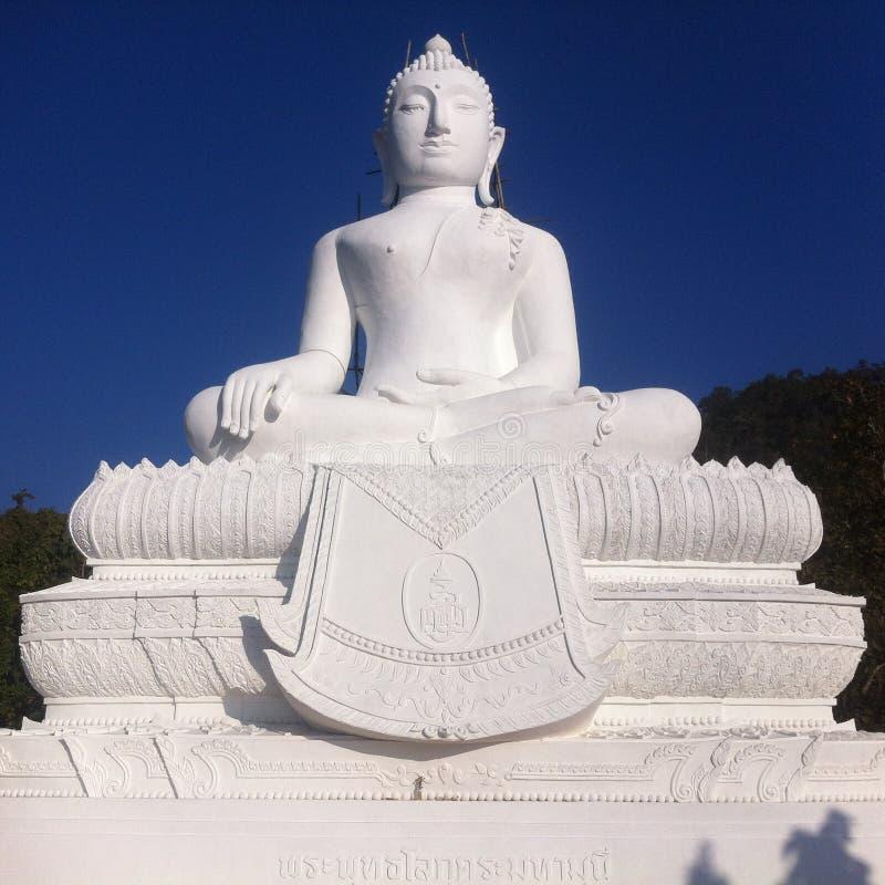 Weißer Buddha stockfoto