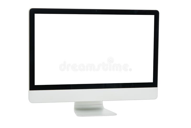 Weißer Computermonitor lokalisiert stock abbildung