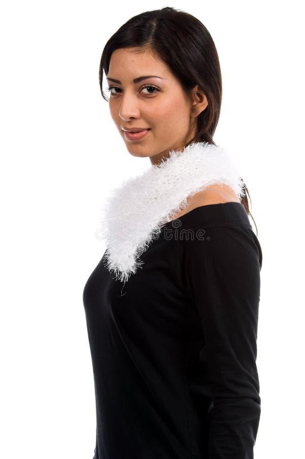 Weißer Couture-Schal stockbilder