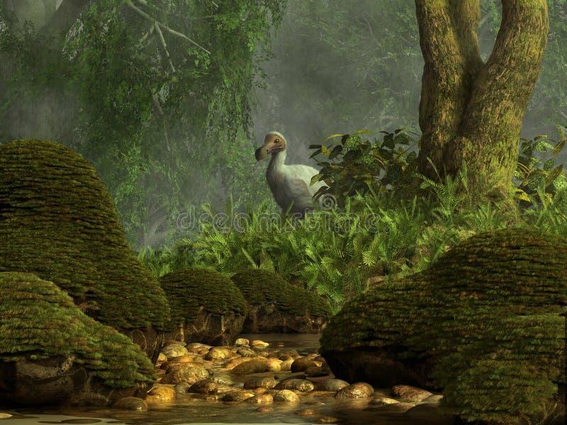 Weißer Dodo stock abbildung
