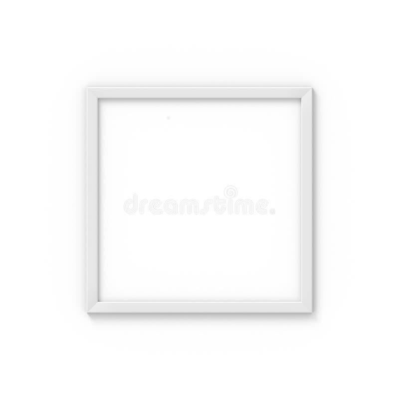 Weißer einfacher Bilderrahmen des Quadrats Modell für Fotografie Wiedergabe 3d lizenzfreie abbildung