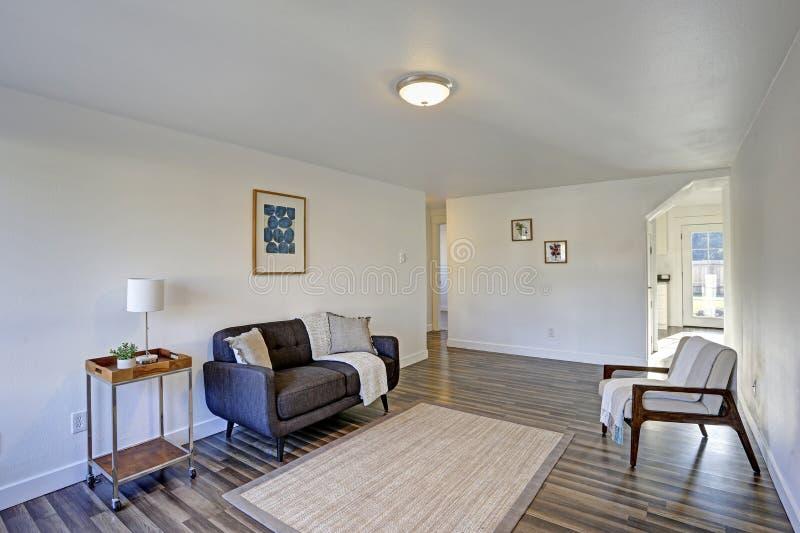 Weißer Eingangsbereich mit bequemem büscheligem Sofa lizenzfreie stockfotos