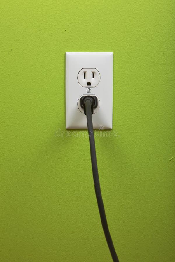 Weißer elektrischer Anschluss stockbild