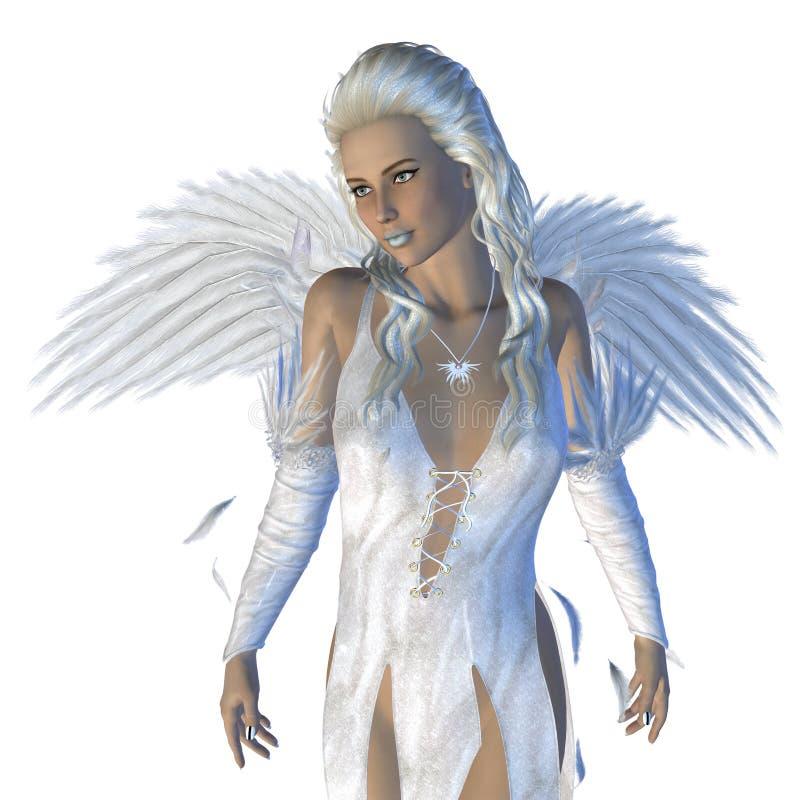 Weißer Engel lizenzfreie abbildung
