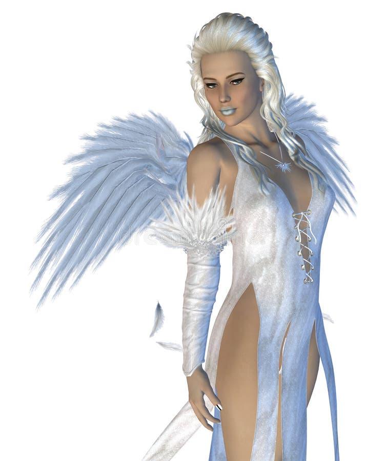 Weißer Engel vektor abbildung