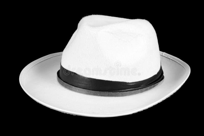 Weißer Fedora-Hut stockbilder
