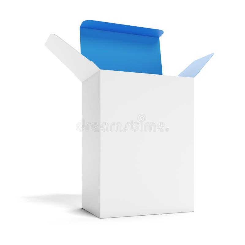 Weißer geöffneter Kasten vektor abbildung