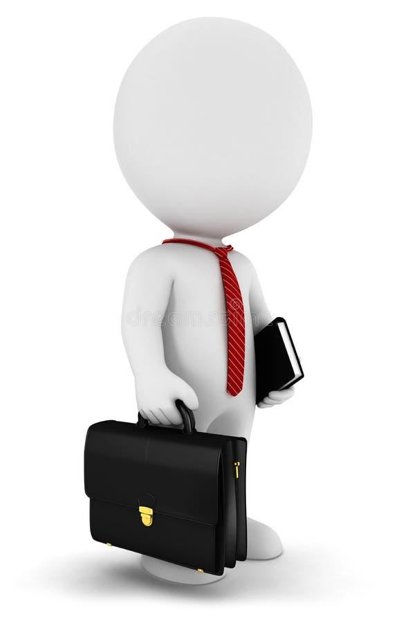 weißer Geschäftsmann der Leute 3d lizenzfreie abbildung