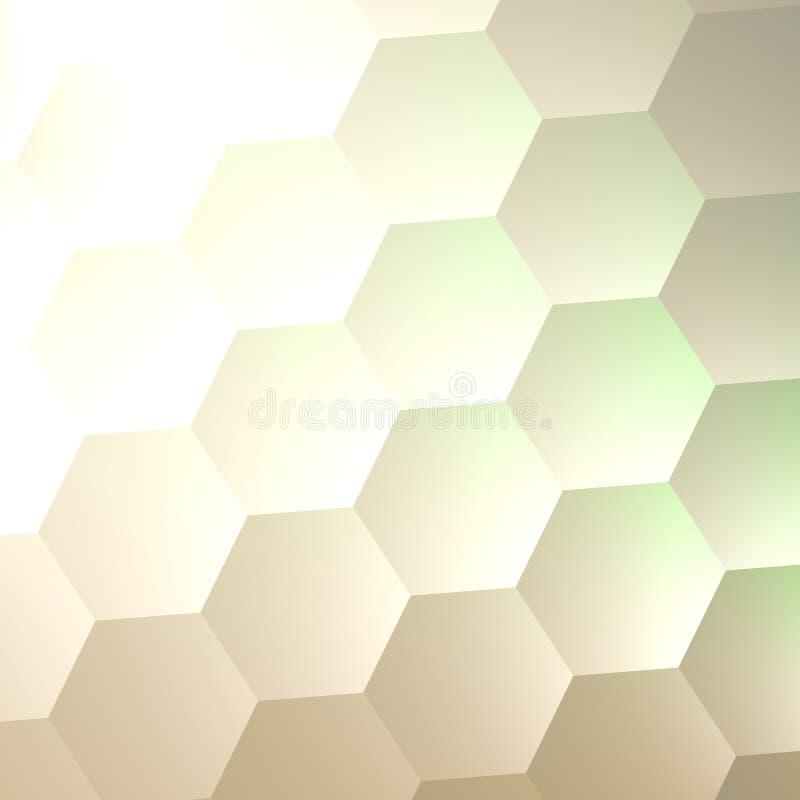Weißer Hexagon-Wand-Hintergrund Einfacher leerer Kopien-Raum Viele Hexagone Zusammenfassung gesteppte weiche Hexen-Formen Plakat- lizenzfreie abbildung
