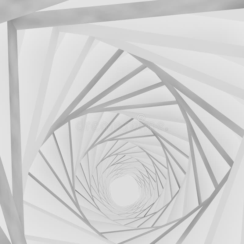 Weißer Hintergrund des Hintergrundes 3d lizenzfreie abbildung