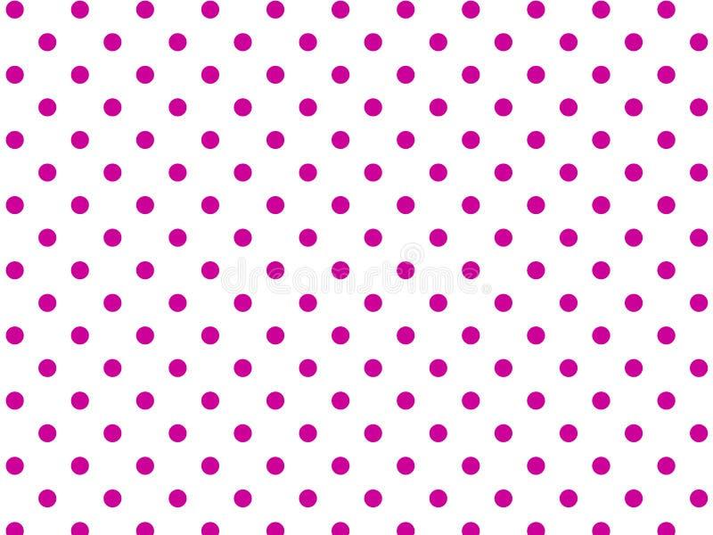 Weißer Hintergrund des VektorEps8 mit rosafarbenen Polka-Punkten vektor abbildung