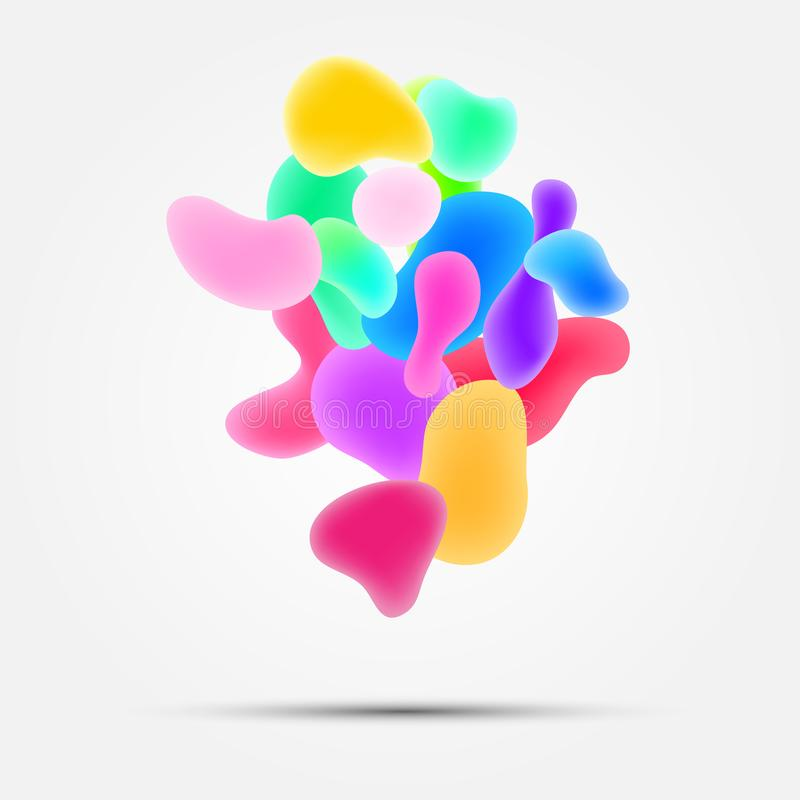 Weißer Hintergrund mit abstrakten Aquarelltropfen lizenzfreie abbildung