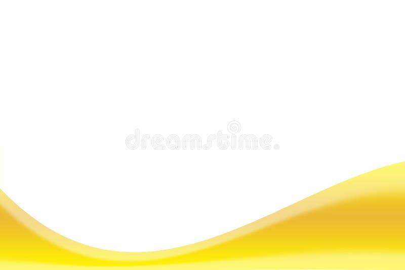Weißer Hintergrund und gelbes Band lizenzfreie stockfotografie