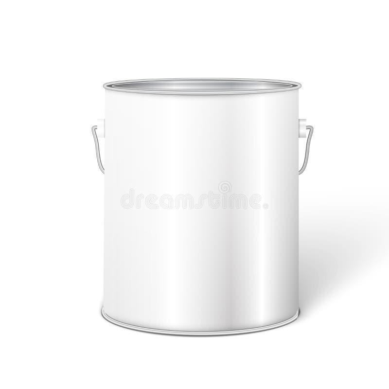 Weißer hoher Wannen-Farbeimer-Behälter lizenzfreies stockfoto