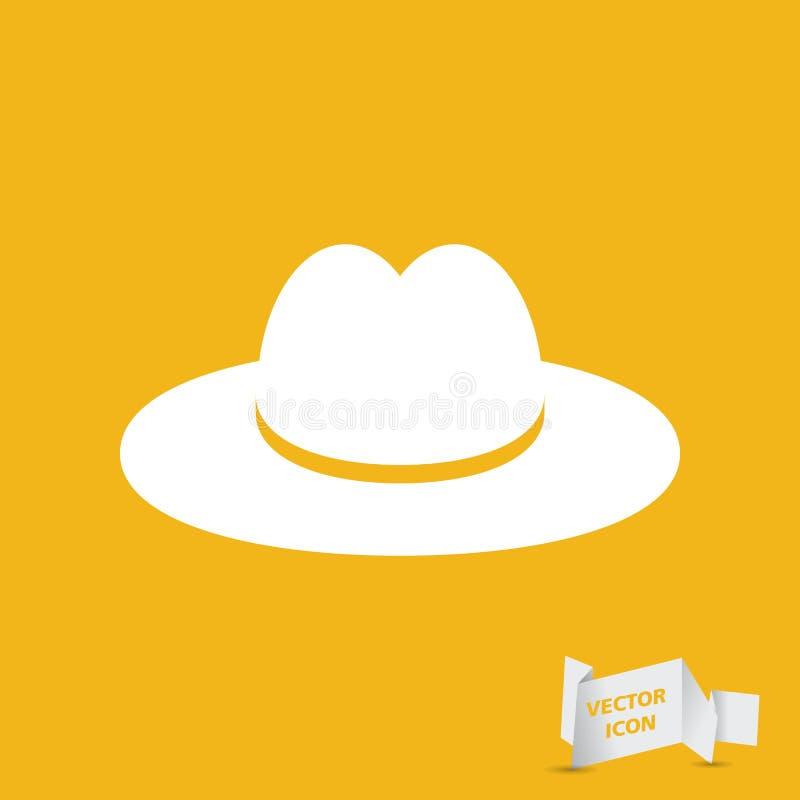Weißer Hut lizenzfreie abbildung