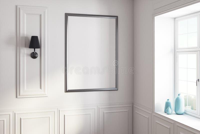 Weißer Innenraum mit Plakat stock abbildung