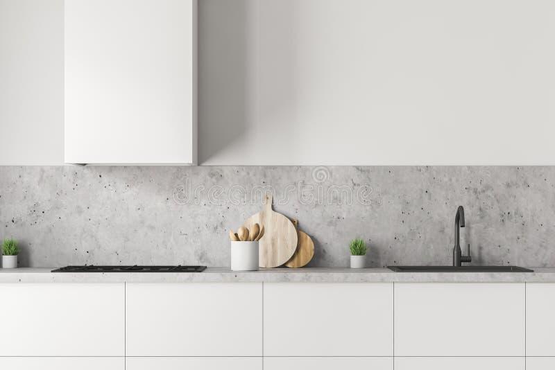 Weißer Küche Countertop lizenzfreie abbildung