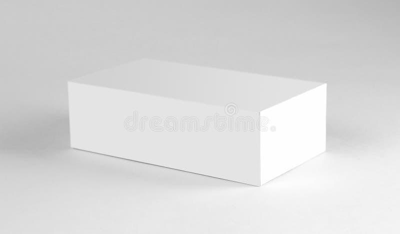 Weißer Kasten Abschluss oben Getrennt auf weißem Hintergrund lizenzfreie stockfotos