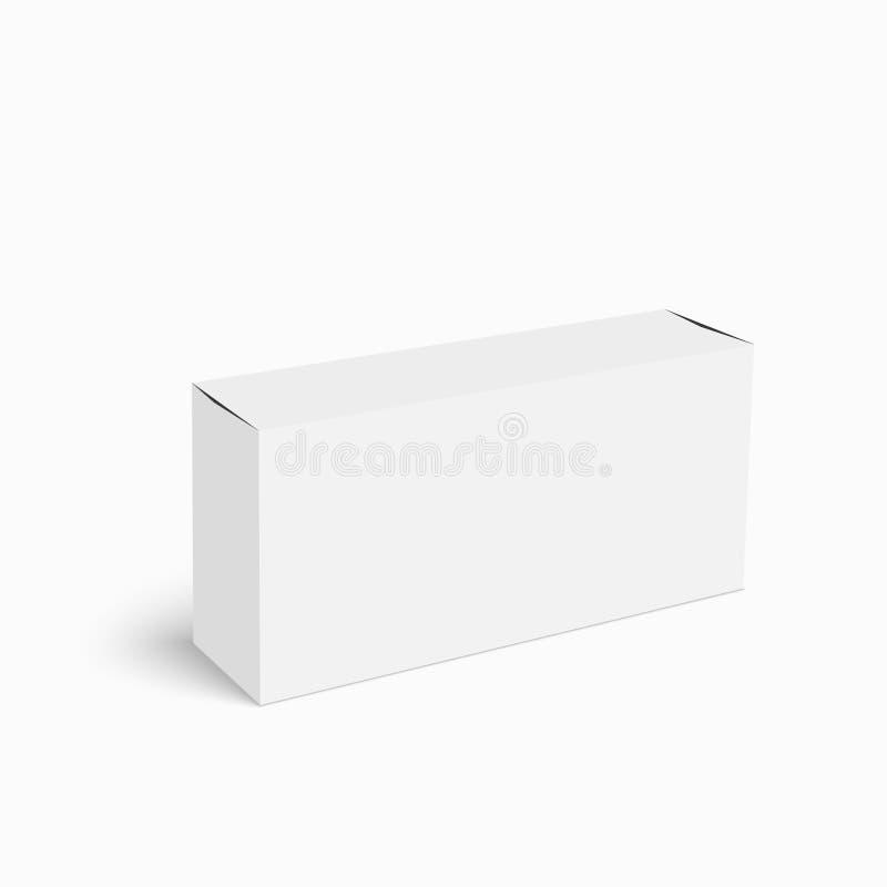 Weißer Kasten des Pakets vektor abbildung