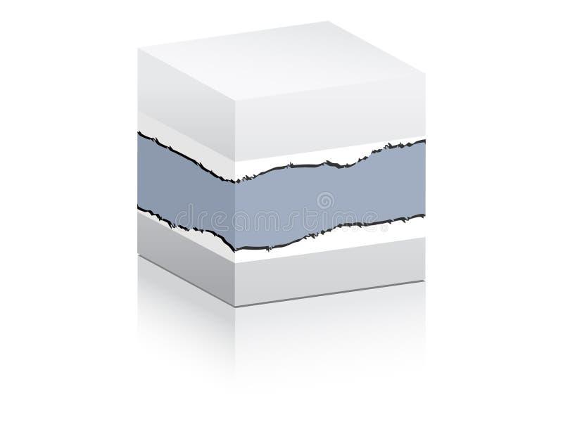 Weißer Kasten für das Bekanntmachen lizenzfreie abbildung