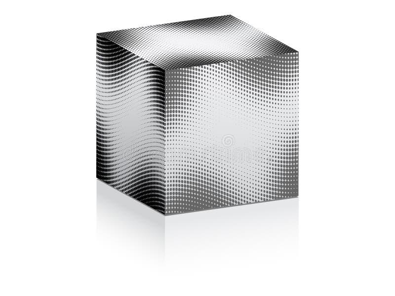 Weißer Kasten mit Punkten auf ihm stock abbildung