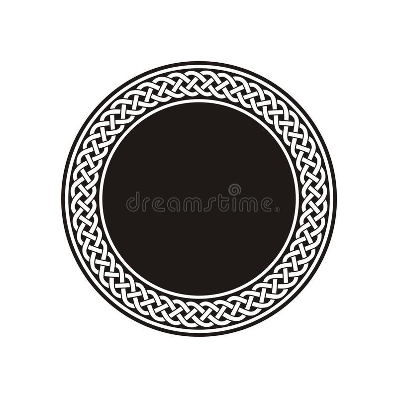 Weißer keltischer Knoten-Muster-Vorrat lizenzfreie abbildung