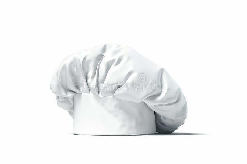 Weißer Koch Hut oder Toque lokalisiert auf hellem Hintergrund Wiedergabe 3d vektor abbildung