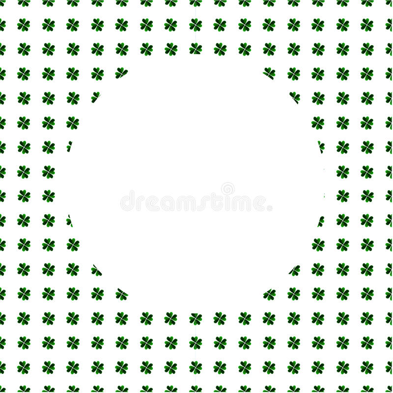 Weißer Kreis Auf Hintergrund Des Aquarellgrün-vierblättrigen ...