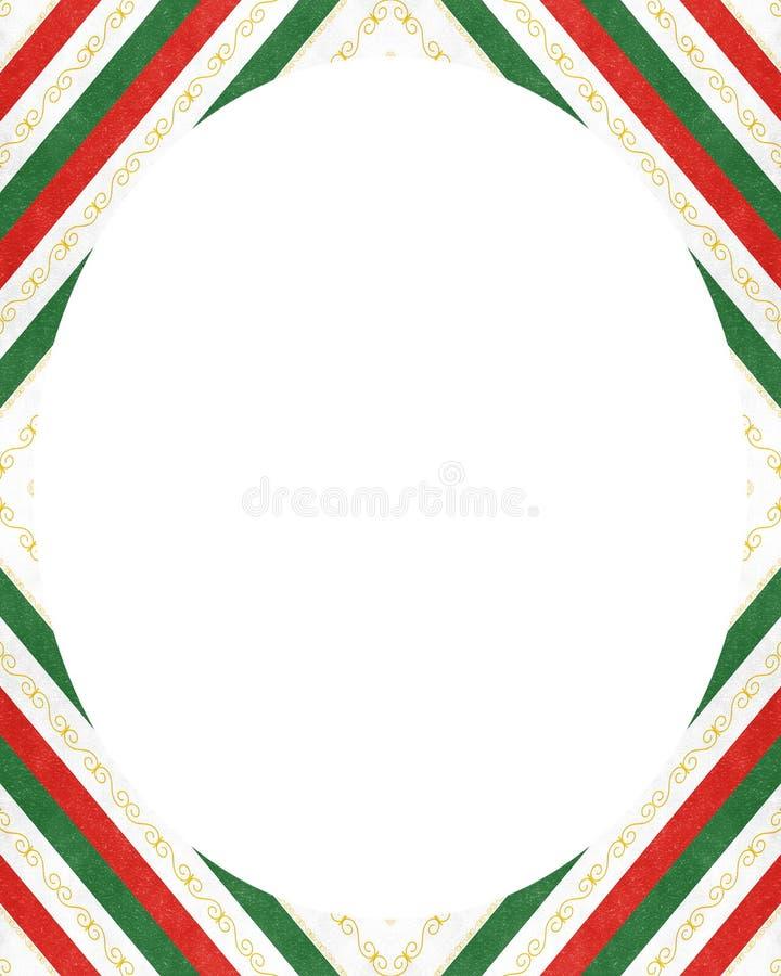 Weißer Kreisrahmenhintergrund mit verzierten Designgrenzen vektor abbildung