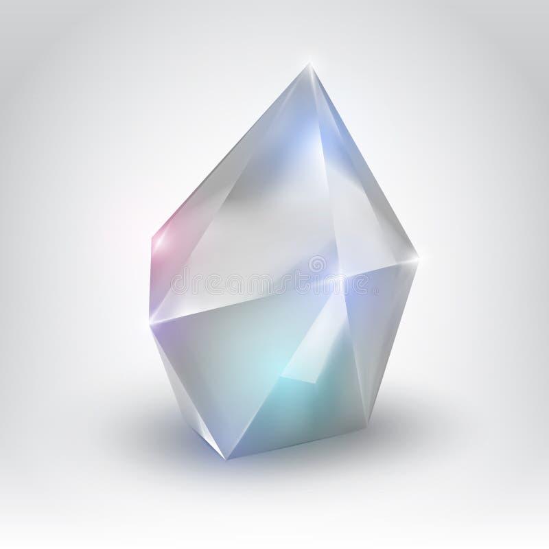 Weißer Kristall stock abbildung