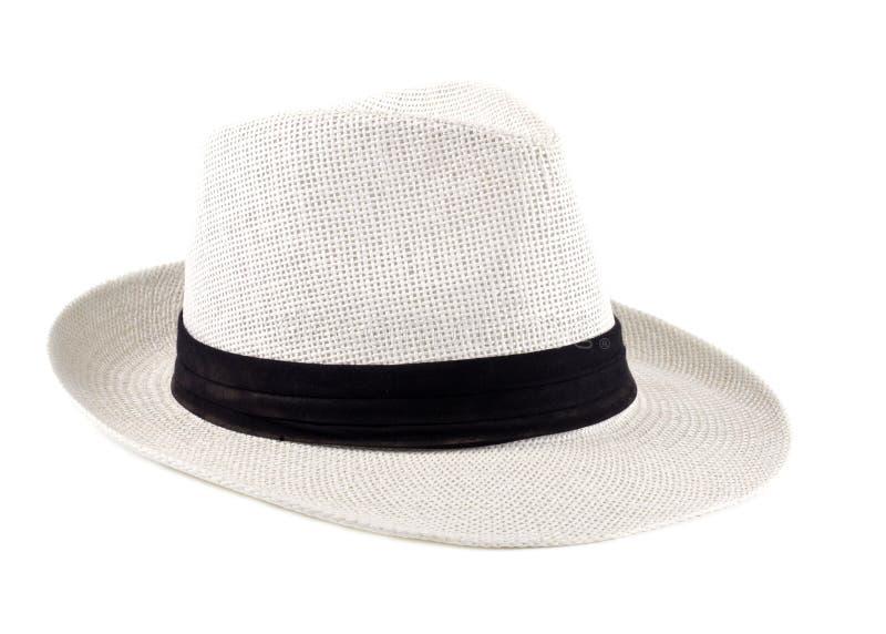 Weißer kubanischer Hut getrennt lizenzfreies stockfoto