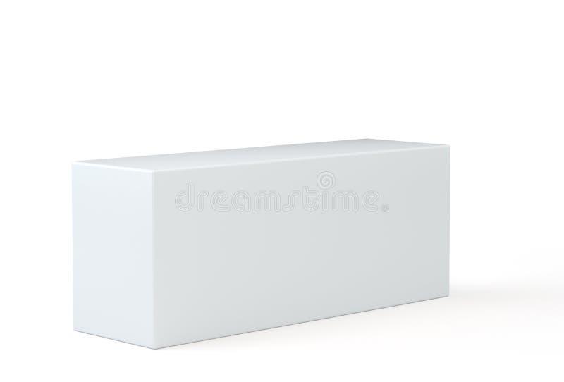 Weißer leerer Kasten auf grauem Hintergrund Schablone für Ihren Inhalt Abbildung 3D stock abbildung