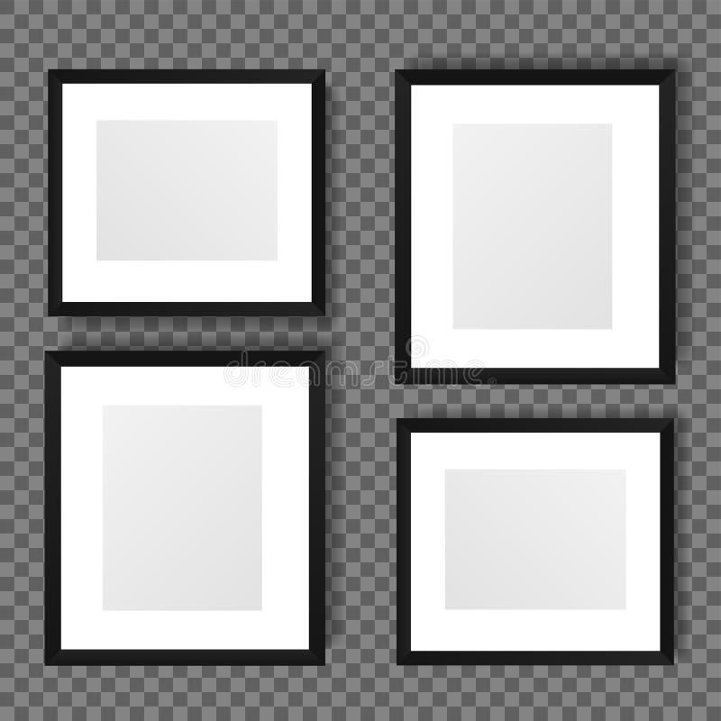 Weißer leerer Rahmen der unterschiedlichen Größe vier vektor abbildung
