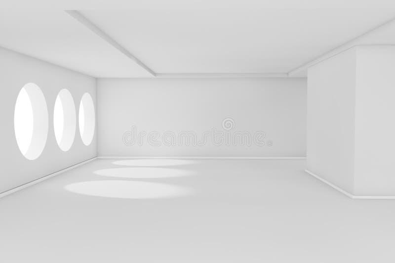 Weißer leerer Raum lizenzfreie abbildung